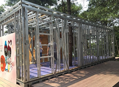 钢结构主题骨架