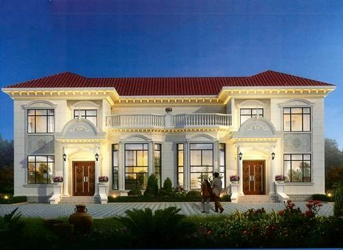 双拼钢结构别墅